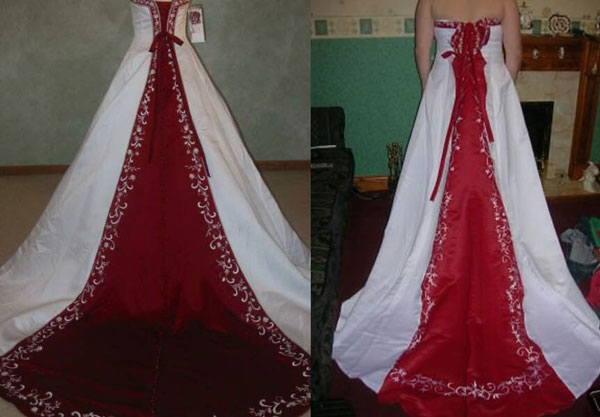 Once Again The Gown On The Left Is What Was Ordered, The One On The Right  Is The One That Arrived From China.